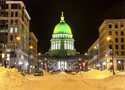 Green Bay Prints - Madison Capitol Print by Steven Ralser