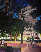 Park Scene Painting Originals - Madison Square Park NYC by Laura Kaardal