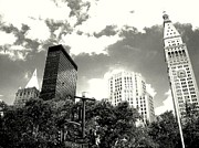 City Skylines Framed Prints Prints - Madison Square Towers Print by Liza Dey