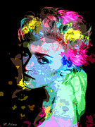 Actress Posters - Madonna Poster by Allen Glass