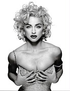 Electronic Photo Posters - Madonna Amazing Poster Poster by Sanely Great