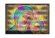 Mother Mary Digital Art Originals - Madonna and Child by Bret DaCosta