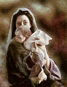 Portraits Paintings - Madonna and Child by Dragica  Micki Fortuna