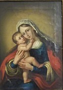 18th Century Painting Originals - Madonna and Child by Eighteenth Century Artist