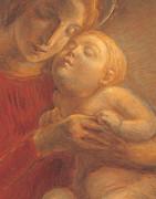 Madonna And Child Print by Gaetano Previati