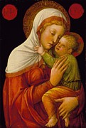 Madonna Posters - Madonna And Child Poster by Jacob Bellini