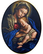 Drapery Posters - Madonna and Child Poster by Jane Whiting Chrzanoska