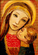 Christian Art Painting Originals - Madonna and Child by Shijun Munns