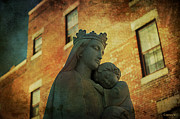 Love Statue Prints - Madonna and Child Print by Terry Rowe