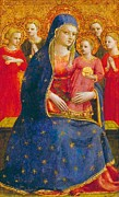 Child Jesus Paintings - Madonna and Child with Angels by Fra Angelico