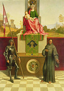 Enthroned Prints - Madonna and Child with Saints Liberale and Francis Print by Giorgione