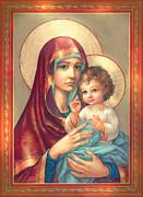 Madonna And Sitting Baby Jesus Print by Zorina Baldescu