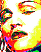 Singer Digital Art Originals - Madonna by Byron Fli Walker