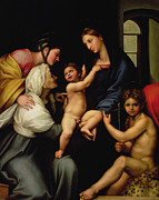Baptist Paintings - Madonna dellImpannata by Raphael