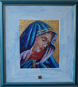 Religious Glass Art Originals - Madonna di Cannaregio by Vladimir Cvetkovic