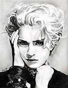 Madonna Drawings - Madonna by Fred Larucci