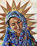 Beeswax Paintings - Madonna of the Dispossessed by Mary C Farrenkopf Johnson