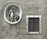 Window Bars Prints - Madonna of the Wall Print by Jean Hall