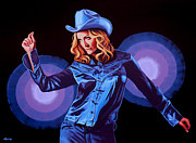 American Singer Paintings - Madonna by Paul Meijering