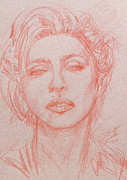 Madonna Drawings Prints - MADONNA pencil portrait.2 Print by Fabrizio Cassetta