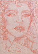 Madonna Drawings Prints - MADONNA pencil portrait.3 Print by Fabrizio Cassetta