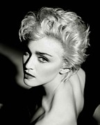 Electronic Photo Posters - Madonna Poster Poster by Sanely Great