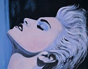 Superstar Painting Posters - Madonna Poster by Shirl Theis
