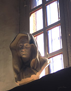 Eastern Orthodox Photos - Madonna Statue in Mission Window by Julie Magers Soulen