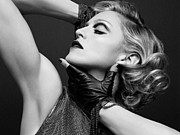 Electronic Photo Posters - Madonna Strikes a Pose Poster by Sanely Great