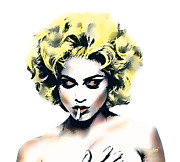 Madonna Digital Art - Madonna with cigarette by Jan Rodenrijs