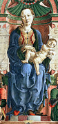 Madonna With The Child Enthroned Detail Print by Cosme Tura