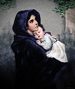 Roberto Digital Art Metal Prints - Madonnina Metal Print by A Samuel