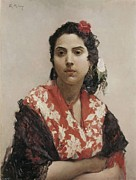 Gypsy Prints - Madrazo, Raimundo 1841-1920. Gypsy Print by Everett