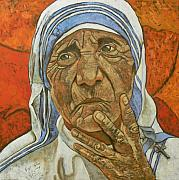 Calcutta Paintings - Madre Teresa di Calcutta by Giosi Costan