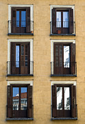 Houses Prints Framed Prints - Madrid Framed Print by Frank Tschakert