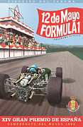 Rally Prints - Madrid Grand Prix 1968 Print by Nomad Art And  Design