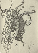 Medusa Drawings Metal Prints - Madusa Metal Print by Melaina Lee