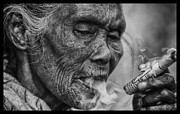 Border Photo Originals - Mae Sot Smoker by David Longstreath