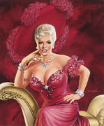 Nightclub Painting Framed Prints - Mae West Framed Print by Dick Bobnick
