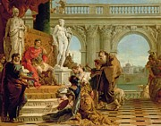Presenting Prints - Maecenas Presenting the Liberal Arts to the Emperor Augustus Print by Giovanni Battista Tiepolo