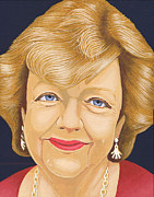 Writer Painting Originals - Maeve Binchy by Martin Keaney