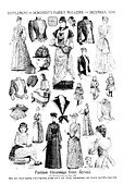 Fashion Plates Prints - Magazine Fashion Supplement 1889 Print by Padre Art