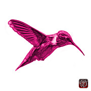 Animal Lover Digital Art - Magenta Hummingbird - 2054 F S by James Ahn