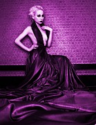 Halter Dress Posters - Magenta Poster by Pamela White