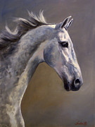 Horse Head Paintings - Maggie by Jeanne Newton Schoborg