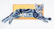 Kitten Framed Prints - Maggie Kitten Framed Print by Kimberly Santini