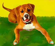 Boxer Mixed Media Prints - Maggie Print by Tammy Berk