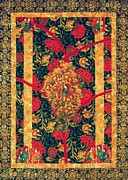 Carpet Tapestries - Textiles Prints - Magic Carpet Print by Jean Baardsen