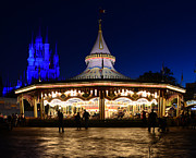 Cinderellas Castle Prints - Magic Carrousel Print by David Lee Thompson