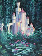 Lily Pond Paintings - Magic Castle by Vivien Rhyan